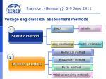 voltage sag classical assessment methods