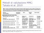 metodi di valutazione mmc takala et al 2010