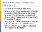 mmc e discopatie evidenze di letteratura 1