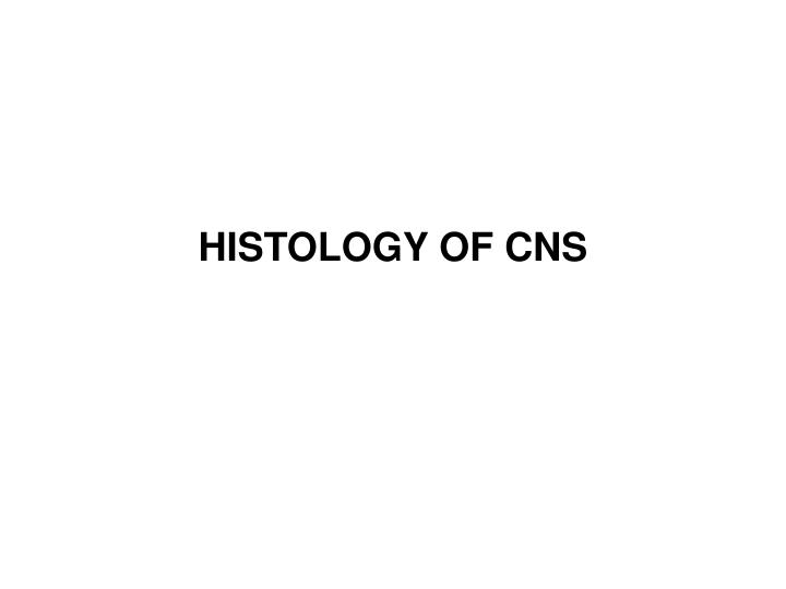 histology of cns n.