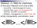 abstract 1 web for machines