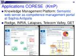 applications corese kmp
