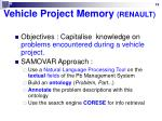 vehicle project memory renault
