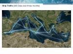 ship traffic ais data over three months