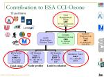 contribution to esa cci ozone