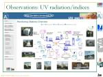 observations uv radiation indices1