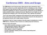 conference 2005 aims and scope