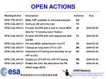 open actions