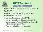 rpg to web