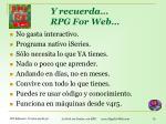 y recuerda rpg for web