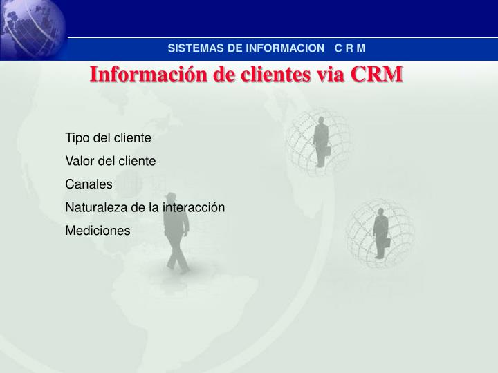 Información de clientes via CRM