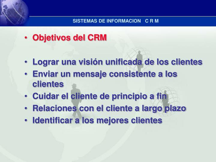 SISTEMAS DE INFORMACION   C R M