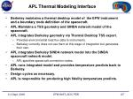 apl thermal modeling interface