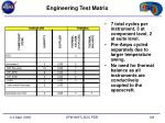 engineering test matrix