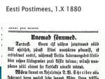 eesti postimees 1 x 1880
