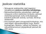 jooksev statistika