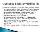 muutused eesti rahvastikus 1