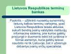 lietuvos respublikos termin bankas1