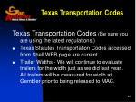 texas transportation codes
