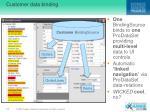 customer data binding