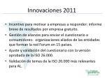 innovaciones 2011
