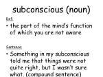 subconscious noun