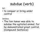 subdue verb