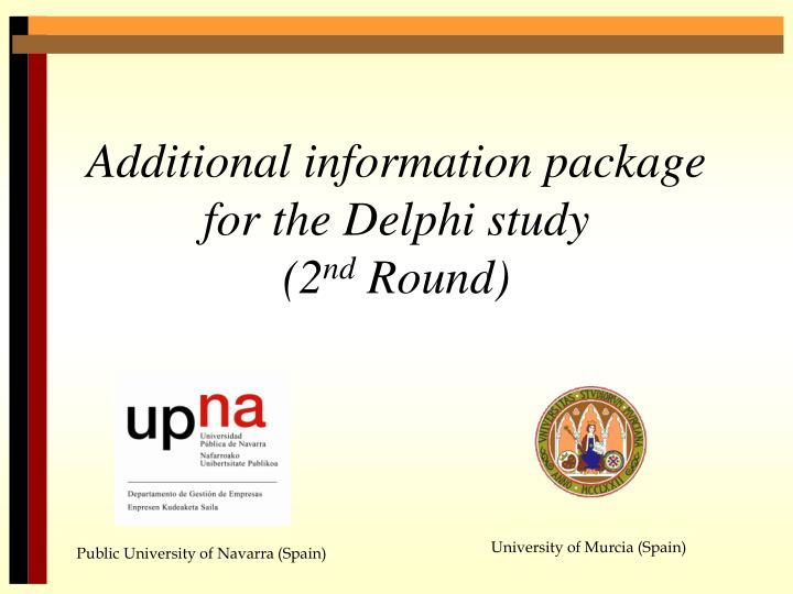 additional information package for the delphi study 2 nd round n.