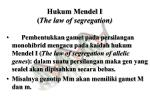hukum mendel i the law of segregation