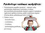 psichologo vaidmuo mokykloje