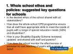 1 whole school ethos and policies suggested key questions for schools