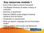 key resources module 1