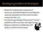 developing intellectual strategies