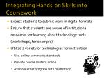 integrating hands on skill s into coursework
