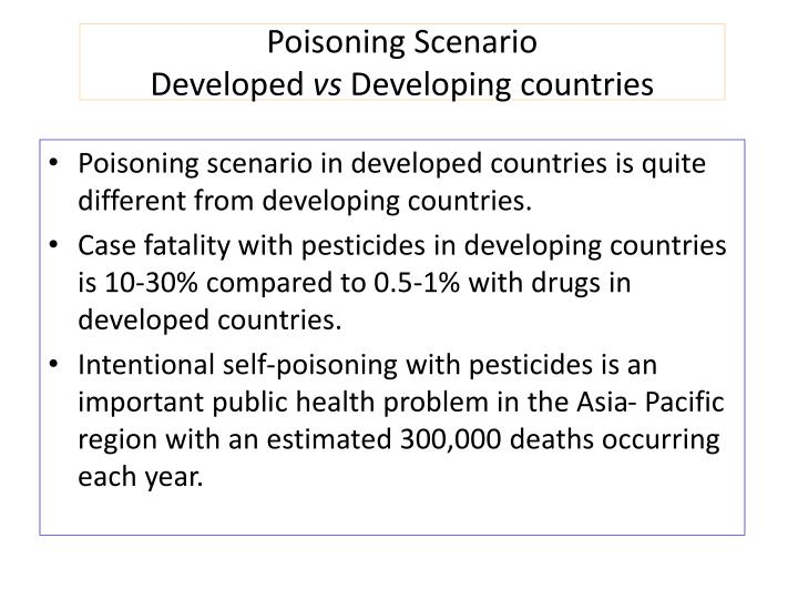 poisoning scenario developed vs developing countries n.