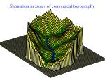 saturation in zones of convergent topography