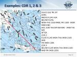 examples cdr 1 2 3