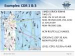 examples cdr 1 3