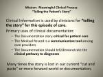 mission meaningful clinical process telling the patient s story