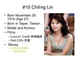 10 chiling lin