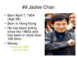 9 jackie chan