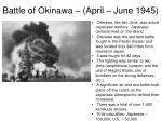 battle of okinawa april june 19451