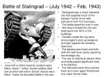 battle of stalingrad july 1942 feb 19431