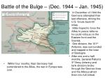 battle of the bulge dec 1944 jan 19451