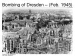 bombing of dresden feb 1945