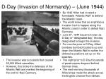 d day invasion of normandy june 19441