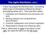 the agile manifesto 2001