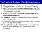 the twelve principles of agile development1