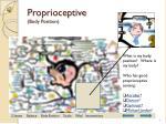 proprioceptive body position