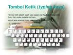 tombol ketik typing keys